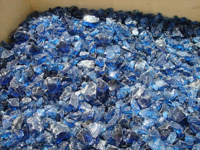 Glasbrocken für Gabionen