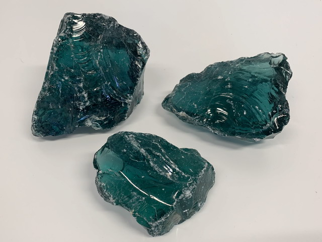glass rocks turquoise - in different grain sizes directly from store