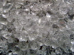 Glass granulate clear 4-10 mm, buy here cheaply, directly from the importer