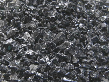 Glass granulate black 10-20 mm, buy here cheaply, directly from the importer