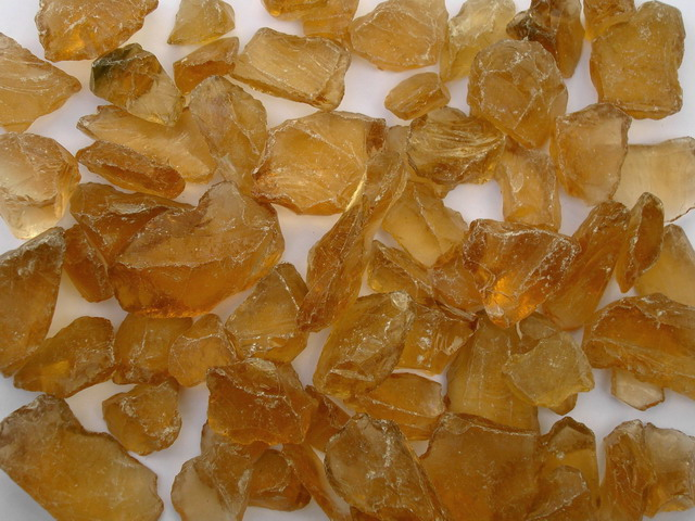 Exclusive - glass stones amber approx. 20-40 mm at Deco Stones warehouse