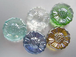 Glass nuggets shapes